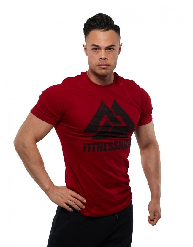 Fitnessnord Grunge T-Shirt - rot