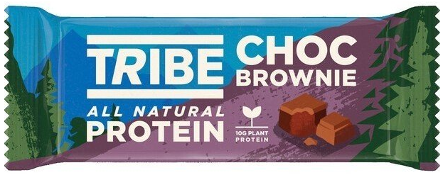 Tribe Natural Plant Protein Riegel 1 x 50 g - Chocolate Brownie