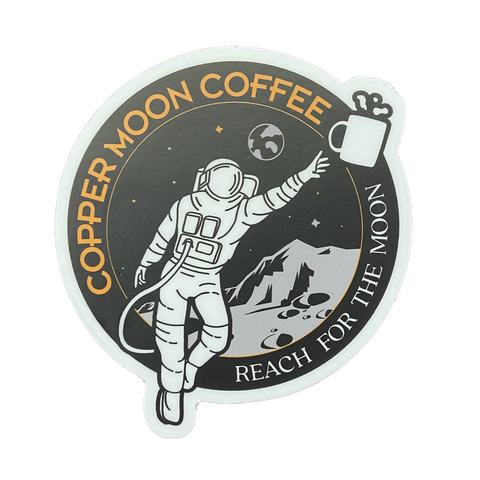 Rocketman Reach for the Moon Sticker