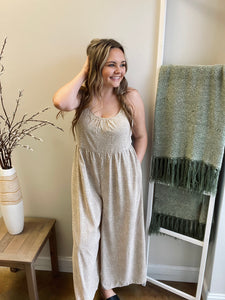 Taupe Wide Leg Jumper