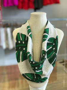 Palm Beaded Scarf