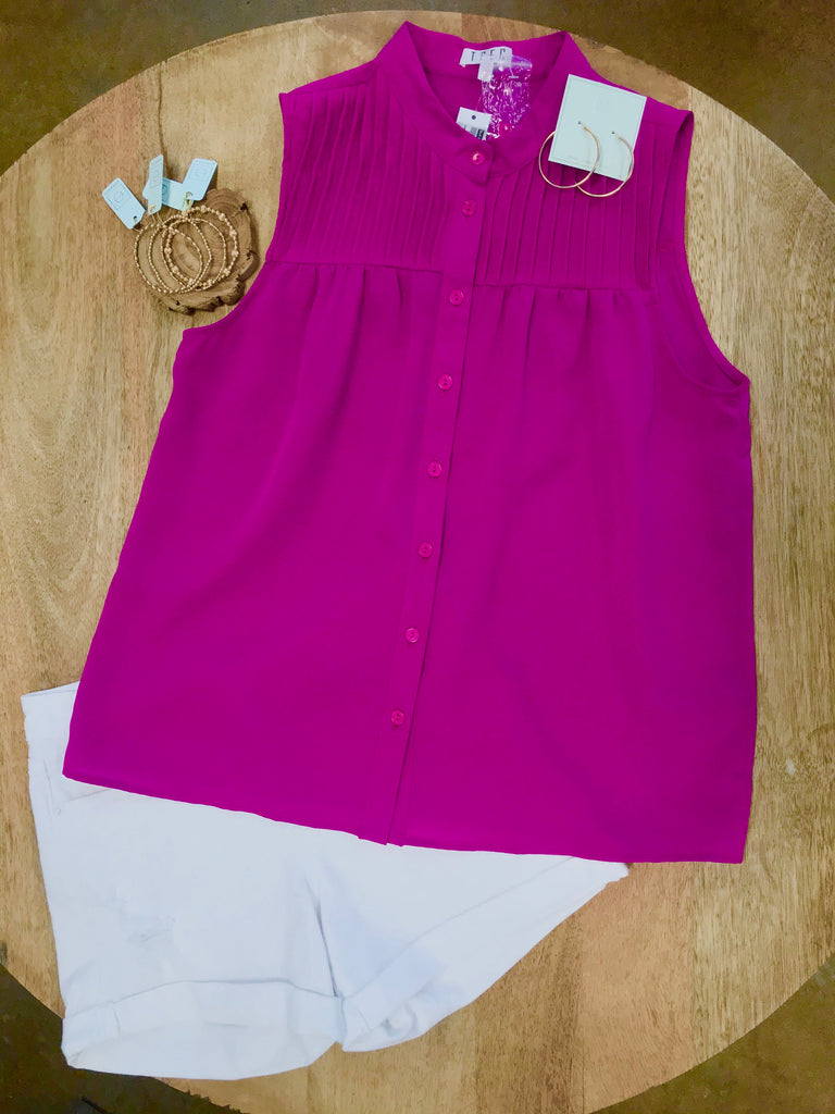 Magenta Sleeveless Top