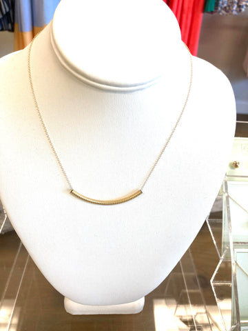 "enewton 16"" Bliss Bar Textured Gold Necklace"