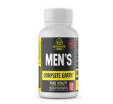 For that reason we created the Men's Complete Earth Multivitamin. This product was created to fill in the gaps of your diet by providing you with rich plant vitality via nutrition that feeds your cells in addition to your sexual reproductive system.