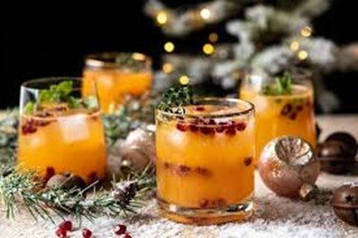 Cocktail de Noël aux agrumes Holly Jolly