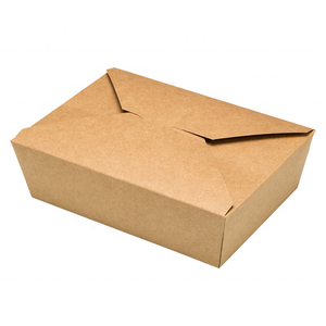 Take-away Box  - Kraft/PLA coated - 1800ml