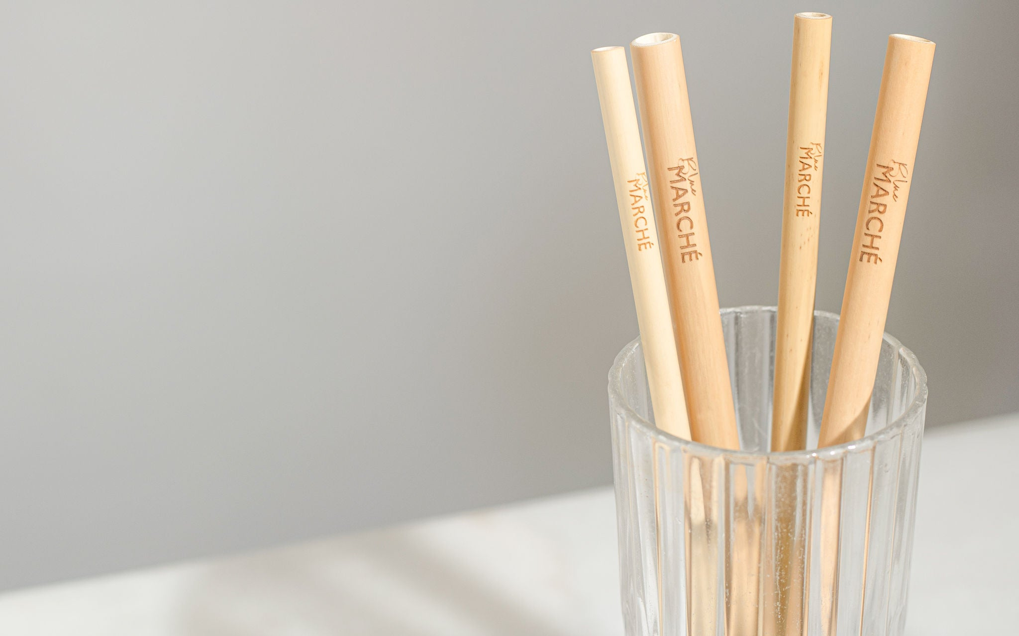 blue marche bamboo straws for smoothies