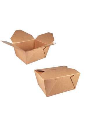 Take-away-Box - Kraft / PLA beschichtet - 700ml