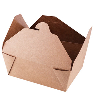 Take-away Box  - Kraft/PLA coated - 1400ml