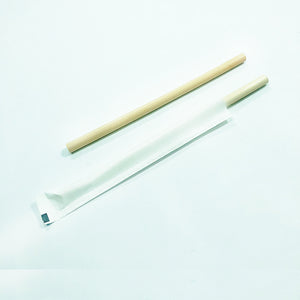 Reed Straws with paper wrapper / 20cm (longdrink) - AVAILABLE ON REQUEST