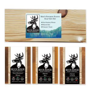 Men's Soap Gift Set- natural, good for the skin, & smells great