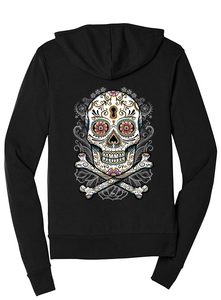 "New ""Bless the Dead' Ladies Tri-Blend Full-Zip Hoodie"