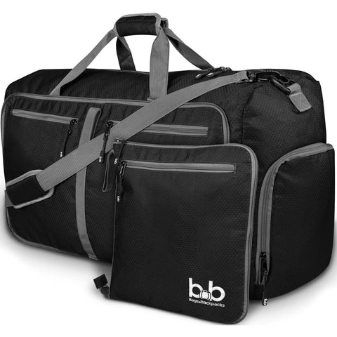 B&B 80L Extra Large Duffle Bag With Pockets - Waterproof Duffel Bag for Women and Men