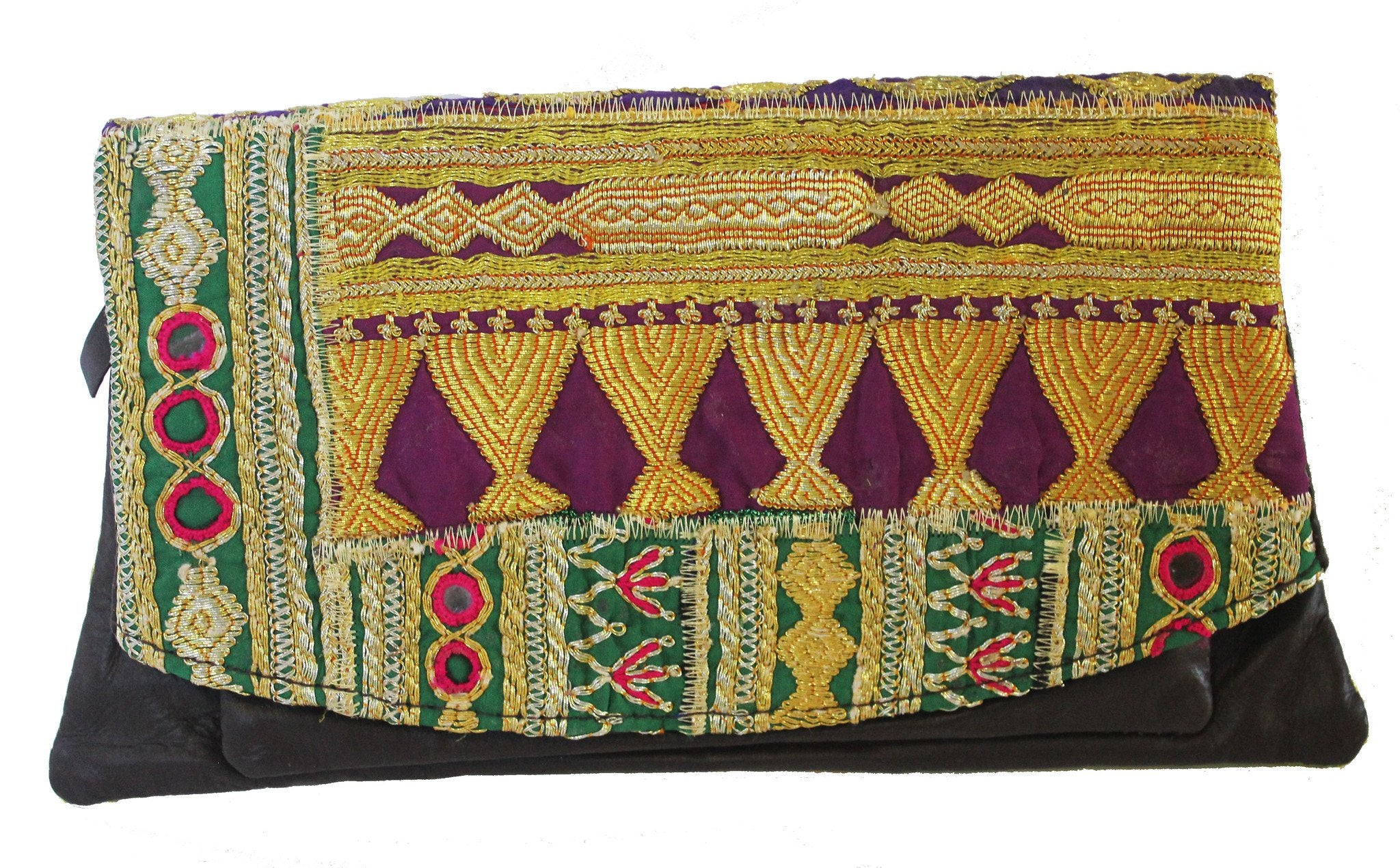 Gold Vintage Gujarati Clutch