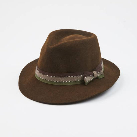 Denver Brown With Italian Headband Felt Hat