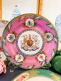 Pink Coalport Great Exhibition Tin Plates, Set of Four