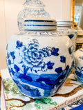 Antique-Style Floral Ginger Jar, 6.5""