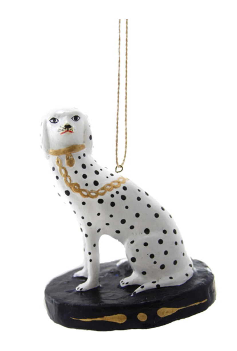 Dalmatian on Black Pedestal