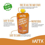 Happa Organic Baby Food, Combo pack of Fruit Puree, Pack of 12, 100 Grams Each - Happafoods