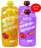Mango + Banana, Apple + Mango (pack of 4) - Happafoods