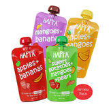 Apple+Mango, Mango+Banana, Apple+Banana, Sweet Potato+Mango+Pear (pack of 4) - Happafoods
