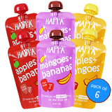 Apple+ Mango, Mango + Banana, Apple + Banana (combo pack)(Pack of 6) - Happafoods