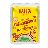Happa Organic Trial Pack of Porridges(Ragi Porridge + Oatmeal Porridge + Brown Rice Porridge) ,8 Pouches, 6 Months + - Happafoods