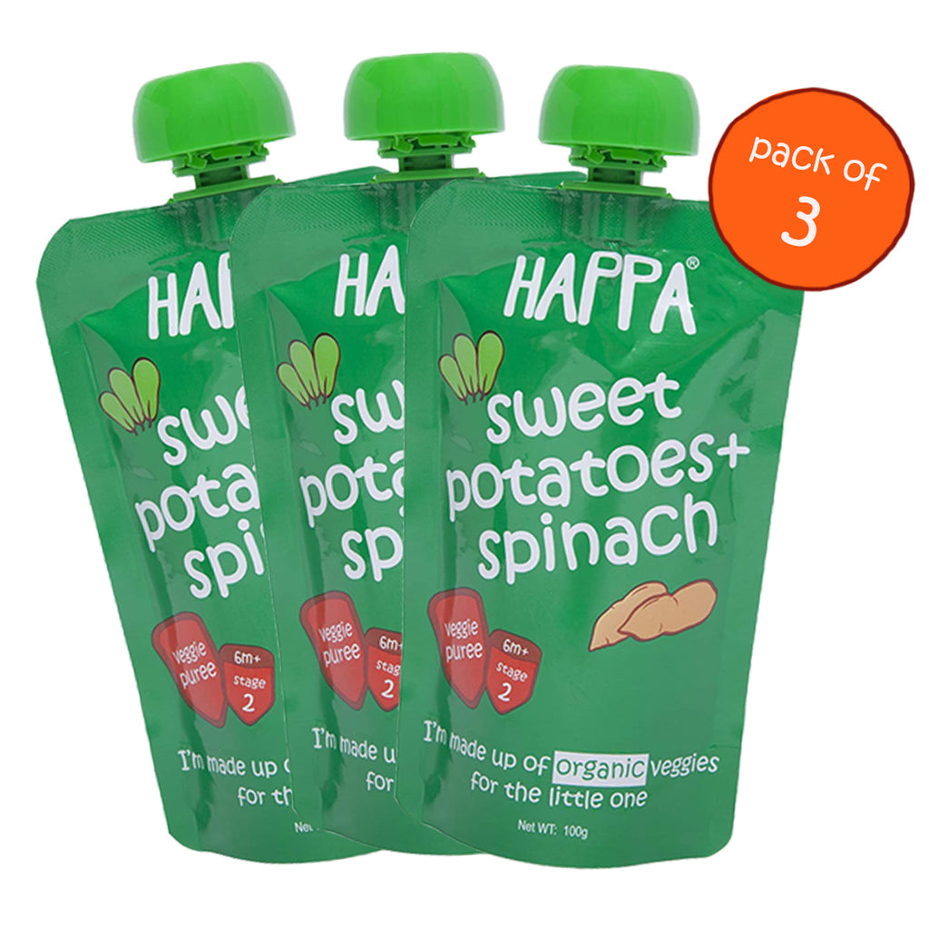 Sweet Potato+ Spinach(Pack of 3) - Happafoods