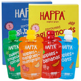 Happa Organic Baby Food, Fruit Puree and Porridge Combo, 8 Puree 100 Grams each and 2 Porridges 200 Grams Each - Happafoods