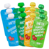 Happa Organic Baby Food Combo pack of Fruit & Veggies Puree, Pack of 12 , 100 Grams Each