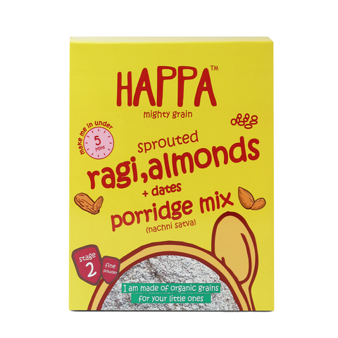ragi almonds+ dates porridge (200gm) - Happafoods