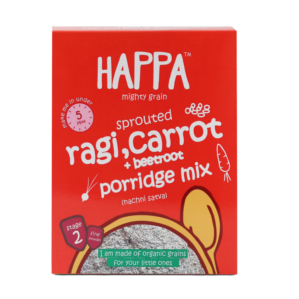 ragi, carrot + beetroot porridge (200gm) - Happafoods