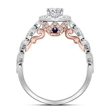 Load image into Gallery viewer, 14k Two-tone Gold Round Diamond Solitaire Bellina Engagement Ring 3/4 Cttw
