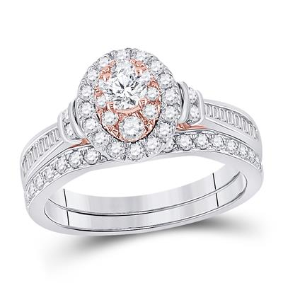 1 CTW-DIA 1/5CTW-CRD BRIDAL RING CERTIFIED
