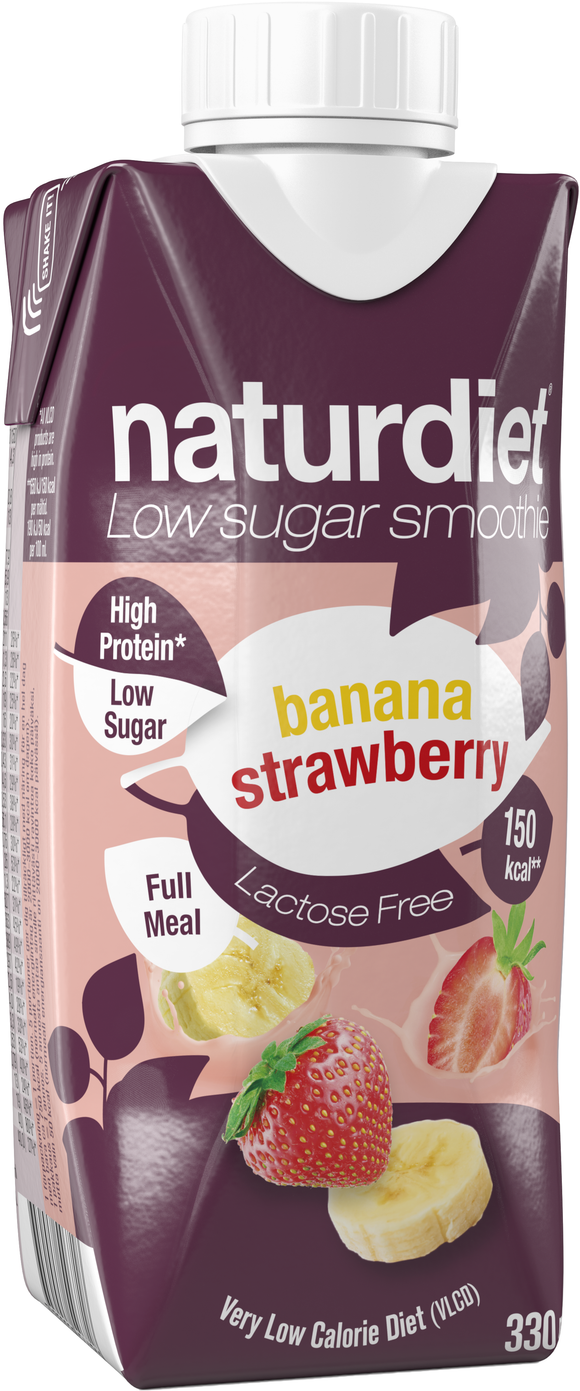 Naturdiet Smoothie Banaani-Mansikka 12-pack