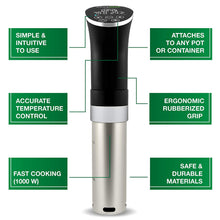 Load image into Gallery viewer, Sous Vide Cooker Immersion Circulator, Starter Kit - 22 items, 1000W