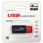 Unirex USB 2.0 4GB Flash Drive-Red