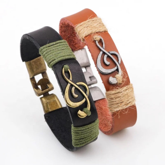 ConPHIdent Music Leather Spirit Bracelets
