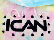 TIE DYED COTTON CANDY UNISEX HOODED PULLOVER