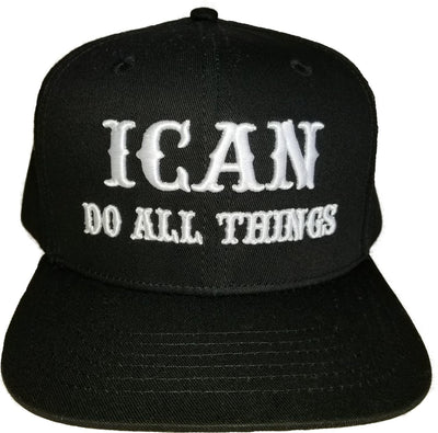 ICAN PHIL 4:13 HAT BLK