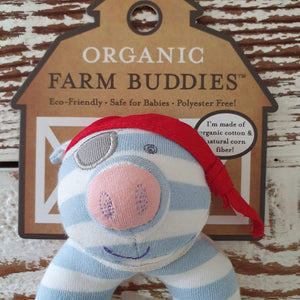 Organic Farm Buddies - Organic & Soft Pirate Pig Rattle