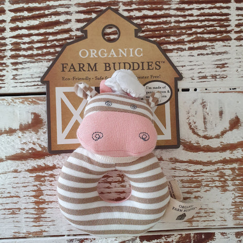 Organic Farm Buddies - Organic & Soft Chef Cow Rattle