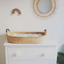 Load image into Gallery viewer, Baby Change Basket - Natural with Black Handles