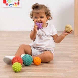 Biodegradable Sensory Natural Rubber Balls, 6