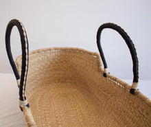 Load image into Gallery viewer, Baby Moses Basket - Natural with Black/Cream Handles