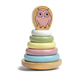 Stacking Owl - Pastel