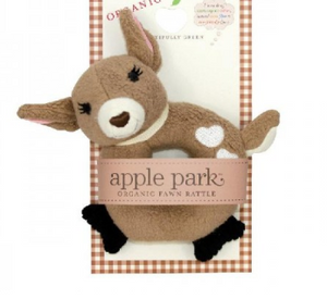 Apple Park's - Organic & Soft Fawn Rattle