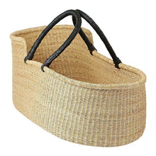 Load image into Gallery viewer, Baby Moses Basket - Natural with Black Handles