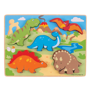 Chunky Lift Out Puzzle - Dinosaurs