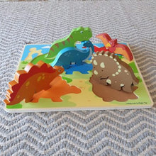 Load image into Gallery viewer, Chunky Lift Out Puzzle - Dinosaurs